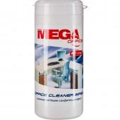 Салфетки чистящие для любых поверхностей ProМEGA Оffice, в тубе, 80шт.