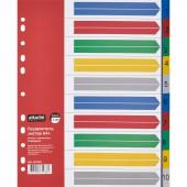 Разделитель А4+, пластик, 10 листов, 10цв, Attache Selection, ст.20
