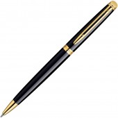 Ручка шариковая Waterman Hemisphere черн лак с позол, лин сред чернила син
