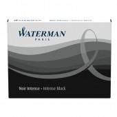 Картридж Waterman с чернилами для перьевой ручки, Size Standard, черный, 8шт/уп