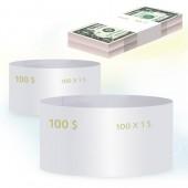 Кольцо бандерольное номинал 1$, 500 шт/уп
