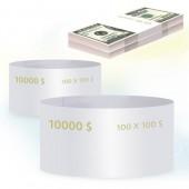 Кольцо бандерольное номинал 100$, 500 шт/уп