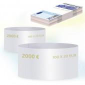 Кольцо бандерольное номинал 20 евро, 500 шт/уп