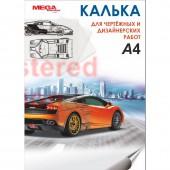 """Калька """"Mega Engineer"""", А4, 40г, 40л. в папке"""