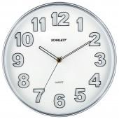 Часы настенные Scarlett SC-55K круг плав.ход пластик