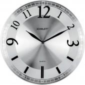 Часы настенные Scarlett SC-55N круг плав.ход пластик