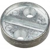 Плашка металлическая на 1 печать, диаметр 29 мм, 2шт/уп, дюраль