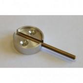Плашка металлическая с флажком, диаметр 29 мм, дюраль