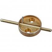 Плашка металлическая со штоком, диаметр 29мм, дюраль