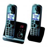 Радиотелефон Panasonic KX-TG6722RUB чёрный, доп.трубка
