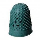 Напалечник для бумаги, d=18 мм, высота 30 мм, резин., зеленый 766