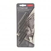 Уголь для рисования, 6шт/уп, Derwent D-35996, древесный, прессованный, блистер,