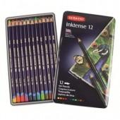 Карандаши цветные 12цв, Derwent Inktense D-0700928, чернильные, метал.коробка