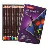 Карандаши цветные 12цв, Derwent Coloursoft D-0701026, профессиональные, метал. коробка,