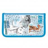 Пенал на двух молниях Action! Animal Planet, без наполнения, ткань, разм. 200х130 мм., 1 дизайн