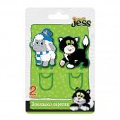 Закладка-скрепка Action! Guess with Jess, 2 шт., ассорти, 4 диз., картон с е/подвесом