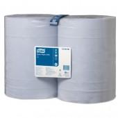 """Полотенца бумажные протирочные """"Tork W1"""", 2-слойные, голубые, 2рул/упак, 128408, 1000л,"""
