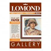 Арт-бумага стр.печ., Lomond Gallery Velour White Semigloss, А4, 268г/м2, бархатистая, натурально-бел