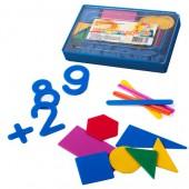 Набор цифр и счетного материалла,  геометр.фиг+цифры 0-9,см-1