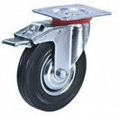 Колесо для тележки SCb 160 поворотное, тормоз