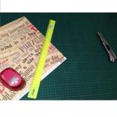 Подкладка для резки А2 Maped (45х60см), с разметочной сеткой, 3-х слойная, из ПВХ,