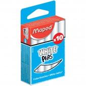 Мел школьный белый 10шт, Maped White'Peps, д/детей, кругл.