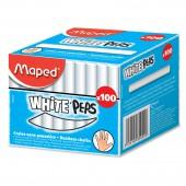 Мел школьный белый 100шт, Maped White'Peps д/детей, кругл.