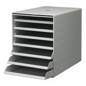 Короб для документов Durable Idealbox Plus, ф.С4, разм. 36,5х25х32,2 см, 7 выдвиж.ящиков, серый
