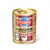 Тушенка Гродфуд мясо цыпленка в с/с ж/б, 350гр