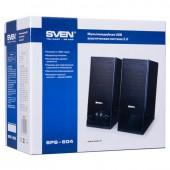 Колонки Sven SPS-604, чёрный, 2.0 (4 Вт, USB)