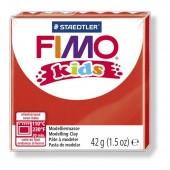 Глина полимерная красная, 42гр, Fimo, kids, 8030-2