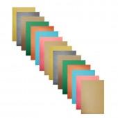 Бумага цветная А4, набор 16л, 8цв, Апплика, матовая, 50г, скрепка, 5дизайна,