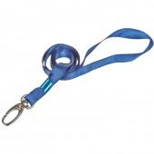 Держатель для бейджа на карабине голубой/синий