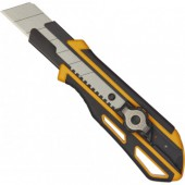Нож канцелярский 25мм Attache Selection Supreme, фиксатор, прорезин корпус