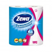 """Полотенца бумажные рулонные """"Zewa"""", 2-слойные, белые с рисунком, 2рул./уп, ст.12"""