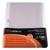 Файл с перфорацией А4+, 100шт/уп, Lamark, 45мкм, Германия, ст.20