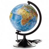 Глобус физико-политический с подсветкой рельефный,210мм