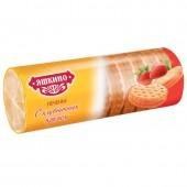Печенье затяжное Яшкино с клубничным кремом 182г