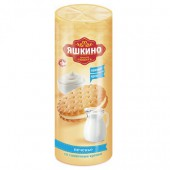 Печенье затяжное Яшкино со сливочным кремом 182г