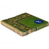 Салфетки бумажные Классика 33x33 3сл. Цветочные узоры, зеленый фон