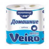 """Полотенца бумажные для держателей """"Veiro"""" Домашние 2-сл., с тиснением, 2рул./упак. 3п22"""