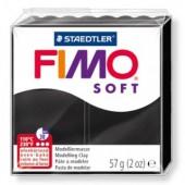 Глина полимерная черная,57гр,запек в печке,Fimo,soft,8020-9