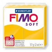 Глина полимерная желтая,57гр,запек в печке,Fimo,soft,8020-16