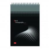 Блокнот А5 60л спираль, клетка, Stenography, облкартон, арт.6с10, ст.40