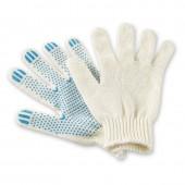 Перчатки хозяйственные 2 нити с точечным ПВХ покрытием