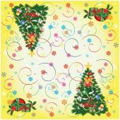Салфетки бумажные Veiro 3сл, 33*33см, 20шт/упак, Новый год