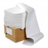"""Бумага для принтера в стопе (ЛПУ) 210х305 (12"""") 1600л/уп, 96%, белый с неотрывной перфорацией однослойная"""