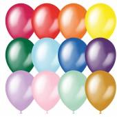 Воздушные шары, 100шт, М9/23см, ассорти, металл
