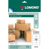Бумага самоклеящаяся А4 50л. Lomond 10 фр. (105*59,4)