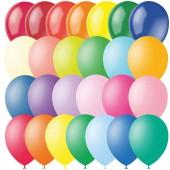 Воздушные шары, 100шт, М12/30см, ассорти, пастель+декор
